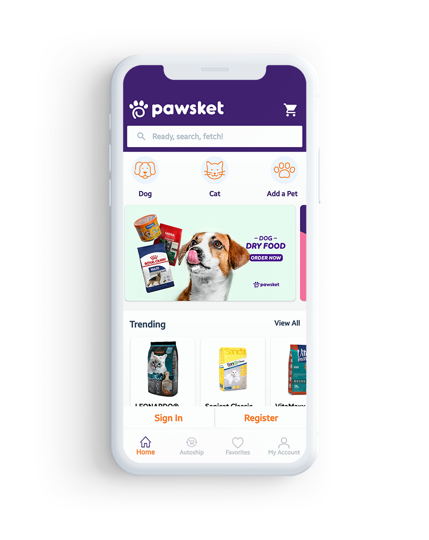 Pet Food & services based Ecommerce
